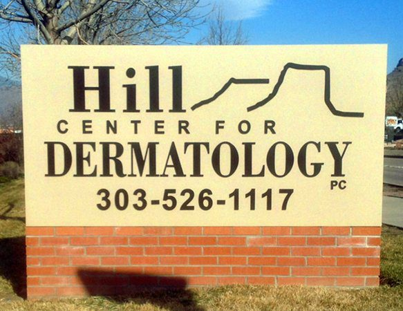 Monument Sign for Hill Center for Dermatology in Golden, CO