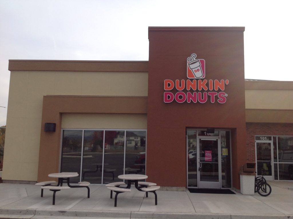 Dunkin Donuts channel letter sign