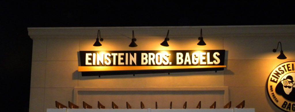 Einstein Bros. Bagels building sign