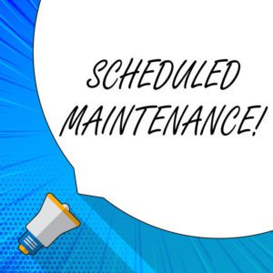 scheduled maintenance business signs co companies