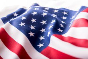 American Flag Waving LED Message Board